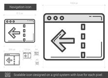 Navigation line icon. Navigation vector line icon isolated on white background. Navigation line icon for infographic, website or app. Scalable icon designed on Stock Image