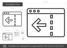 Navigation line icon. Navigation vector line icon isolated on white background. Navigation line icon for infographic, website or app. Scalable icon designed on Stock Photo