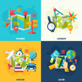 Navigation And Location Flat Icon Set Stock Images