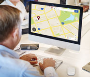 Navigation Location Geography Map Education Concept Royalty Free Stock Photo