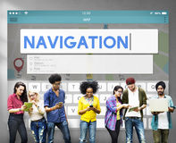 Navigation Location Travel Search Trip Concept Royalty Free Stock Photo