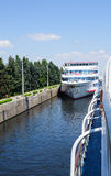 Navigation Lock  on The Volga River Stock Photography
