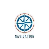 Navigation logo template with compass Royalty Free Stock Photos