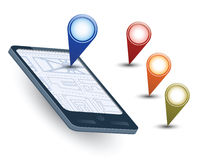 Navigation map Royalty Free Stock Images