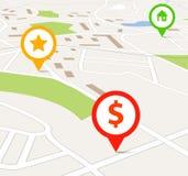 Navigation map stock photos