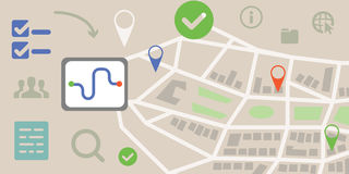 Navigation map horizontal Stock Images