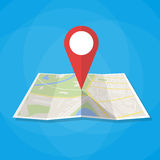 Navigation map icon Stock Photos