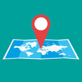 Navigation map icon Royalty Free Stock Image