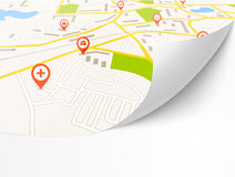 Navigation map Royalty Free Stock Image