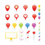 Navigation Markers Set Stock Photo