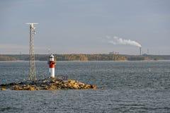 Navigation marks in the Turku archipelago Stock Image