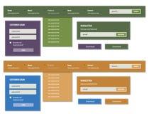 Navigation menu Stock Photos