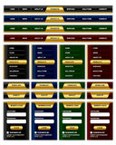 Navigation menu and website elements Royalty Free Stock Image