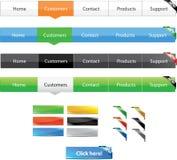 Navigation menus Royalty Free Stock Image