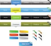 Navigation menus Stock Image