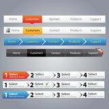 Navigation menus Stock Images