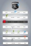 Navigation menus. A set of  navigation menus Stock Photos