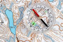 Navigation mit Karte Stockbilder