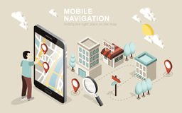 Navigation mobile Image libre de droits
