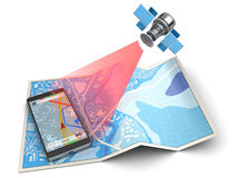 Navigation mobile Photographie stock libre de droits