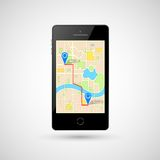 Navigation in Mobile Phone Stock Photography