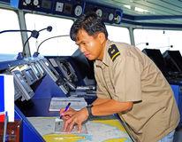 Navigation officer Royalty Free Stock Image