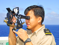 Navigation officer Stock Images
