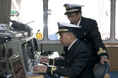 Navigation officers Stock Photography