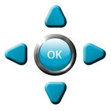 Navigation OK arrow remote control buttons Royalty Free Stock Image