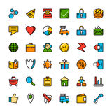 Navigation online store and business icons Royalty Free Stock Photo