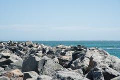 Navigation outre de la côte de Fremantle Image libre de droits