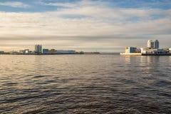 Navigation pass S-1 of dam, St. Petersburg royalty free stock image