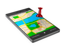 Navigation in phone Royalty Free Stock Photo