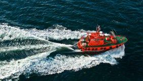 Navigation pilot ship Royalty Free Stock Images