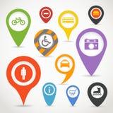 Navigation pins Stock Image