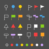 Navigation pins flat design collection Royalty Free Stock Photo