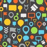 Navigation pins seamless pattern Stock Photo