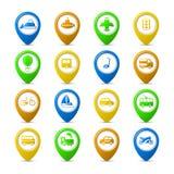 Navigation pins Stock Photo