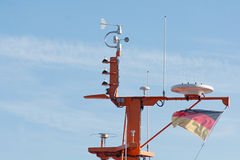 Navigation and radar system on a maritime pilot boat Stock Images