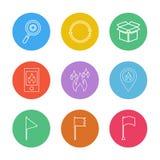 navigation, recherche, remise, le feu, seo, technologie, interne illustration stock