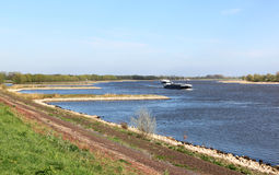 Navigation on the river Waal, Holland Royalty Free Stock Photos