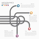 Navigation roadmap infographic timeline concept with place for your data. Vector illustration. Navigation roadmap infographic timeline concept with place for royalty free illustration