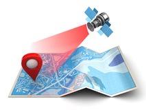 navigation satellite illustration libre de droits