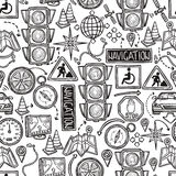 Navigation Seamless Pattern Stock Photos