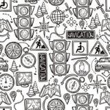 Navigation Seamless Pattern Stock Photos