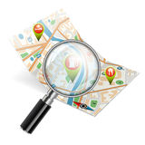 Navigation Search Concept Stock Photos