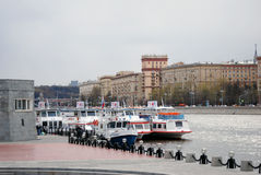 Navigation season opening in Moscow Royalty Free Stock Photos