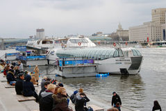 Navigation season opening in Moscow Royalty Free Stock Photo