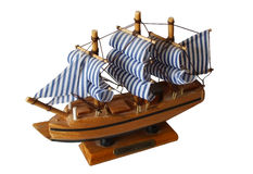 Navigation ship of wood. Part of an entire collection royalty free stock image