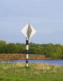 Navigation sign on the river Oka Royalty Free Stock Photography